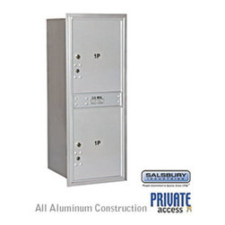 Salsbury Industries - 4C Horizontal Mailbox - 11 Door High Unit - Single Column - Stand-Alone Parcel L - 4C Horizontal Mailbox (Includes Master Commercial Locks) - 11 Door High Unit (41 Inches) - Single Column - Stand-Alone Parcel Locker - 2 PL5's - Aluminum - Rear Loading - Private Access