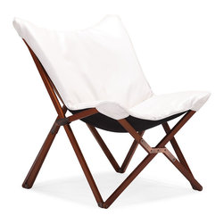 Zuo Modern - Zuo Draper Lounge Chair in White - Lounge Chair in White belongs to Draper Collection by Zuo Modern Curl up in perfect comfort with our Draper lounge chair. The Draper is wrapped in a soft luxurious leatherette on top a wooden collapsible base. Comes in white or black. Lounge Chair (1)
