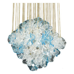 ecofirstart - Jellyfish Lamp - Wonderfully whimsical and ecofriendly as can be, this glass-like lamp is actually composed of rescued plastic bottles. Sparkling with radiant light and elegant movement, it's an endlessly enchanting work of illuminated art for your stylish space.