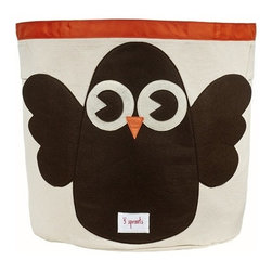 3 Sprouts - Owl Storage Bin - These cute animal storage bins make bedroom clean-up fun activity for kids! Made of a strong cotton canvas, this bin is tough enough to hold whatever you throw in it, but cute enough to complement the best dressed home. It's well-sized for storing toys, books, or laundry, yet saves space by folding easily when not in use. The 3 Sprouts storage bin makes a perfect gift for babies, toddlers and kids.
