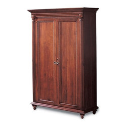 Durham Furniture - Durham Furniture Savile Row Armoire in Victorian Mahogany - Durham Furniture has been making solid wood furniture of the highest quality and enduring value since 1899. Our proud legacy of quality, integrity and dependability places us among North America&rsquos premier manufacturers of fine furniture.
