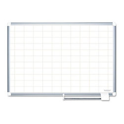 MasterVision - MasterVision 48 x 36 in. Grid Planning Dry Erase Board in White/Silver - BVCMA05 - Shop for Bulletin Boards from Hayneedle.com! The MasterVision 48 x 36 in. Grid Planning Dry Erase Board features a grid- patterned surface. This makes it ideal to present charts and graphs in offices schools hospitals and many other sectors. Made with premium porcelain that s long lasting this board is scratchproof and resistant to ghosting. An aluminum frame further enhances its visual appeal. A wall-fastening kit allows you to easily mount it. Apart from this a sliding tray helps to keep markers pens and eraser conveniently.About United StationersDedicated to making life in the office more organized efficient and easier United Stationers offers a wide variety of storage and organizational solutions for any business setting. With premium products specifically designed with the modern office in mind we're certain you will find the solution you are looking for.From rolling file carts to stationary wall files every product in the United Stations line is designed with one simple goal: to improve office efficiency. In turn you will find increased productivity happier more organized employees and an office setting that simply runs better with the ultimate goal of increasing bottom line profits.