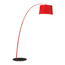 Zuo Modern - Zuo Modern Twisty Floor Lamp in Red w/ Black Base - Floor Lamp in Red w/ Black Base belongs to Twisty Collection by Zuo Modern Twist up your space with this colorful accessory. Comes in multiple colors, it will illuminate your life with style. Floor Lamp (1)