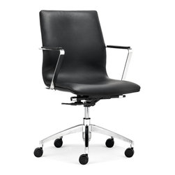 ZUO MODERN - Herald Low Back Office Chair Black - Herald Low Back Office Chair Black