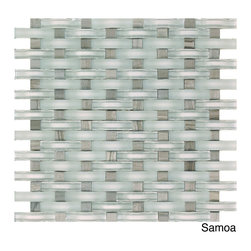 None - EmryTile Ocean 12x12.6 Sheet (10 Square feet per case) - Take your creativity to the next level with this case of Eleganza Ocean glass sheet tiles. With their distinctive weave pattern,this set of 10 glass mosaic wall tiles will help you to create a design that you will love to see every day.