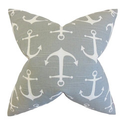 "The Pillow Collection - Gish Coastal Pillow, Gray 20"" x 20"" - Let this nautical-inspired accent piece bring comfort and style to any of your rooms."