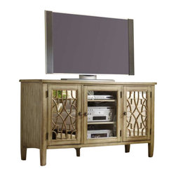 Hooker Furniture - Hooker Furniture Sanctuary 60 Inch Entertainment Console in Surf-Visage - Hooker Furniture - TV Stands - 301355457 - Pursue serenity at home_�_Create your own personal sanctuary a special place where you can experience_�_comfort within.