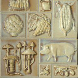 Craftsman Style - Various Pratt and Larson's Vintage Illustration Tile Series in C204