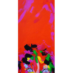 """surprise""  (Original) by Denisse  Wolf - 30x12 original art piece titled ""surprise""."