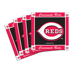 Boelter Brands - Cincinnati Reds Coaster - Set of Four - Keep those tabletops neat and tidy and have them showing spirit with the help of this sporty coaster set. Featuring the home team logo and a rugged design, they provide the perfect accessory for raucous game day festivities!   Includes four coasters 4'' W Neoprene Imported