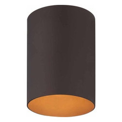 Volume Lighting - Volume Lighting V9615 1 Light Flush Mount Outdoor Ceiling Fixture with Metal Sha - One Light Flush Mount Outdoor Ceiling Fixture with Metal ShadeAccent your outdoor d�cor with this marvelous 1 light flush mount outdoor ceiling fixture featuring a stunning metal shade.Features: