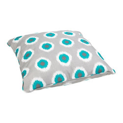 Mozaic Company - Mozaic Company Chloe 28 in. Corded Outdoor/Indoor Floor Pillow - HNPS2391 - Shop for Cushions and Pads from Hayneedle.com! Chill out on this awesome Mozaic Company Chloe Corded Outdoor/Indoor Large 28 in. Floor Pillow. Featuring stain- fade- and mildew-resistant fabric this large floor pillow will bring exceptional comfort and dramatic style to your home s decor. Built with the quality and durability standard of outdoor use these pillows feature a softness perfect for indoor activities like reading a book or watching tv or outdoor activities like lying by the pool. Choose from a huge array of fabric colors and patterns! Sewn closure trimmed with matching cording for added appeal.