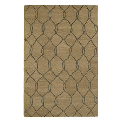 Kaleen - Kaleen Casablanca CAS02 (Light Brown) 5' x 8' Rug - Casablanca brings subtle Moroccan design and inspiration to a warm and calming retreat. Simplistic, geometric, and transitional designs, combined with a soothing and natural color pallet, will turn each room into a new magical oasis. These rugs are hand tufted from 100% wool in India.