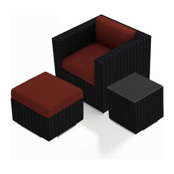 Urbana 3-Piece Outdoor Club Chair Set, Spa Cushions