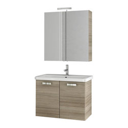 ACF - 30 Inch Larch Canapa Bathroom Vanity Set - Keep your bath looking modern & contemporary with this high quality wall mount bath vanity from the ACF City Play collection.
