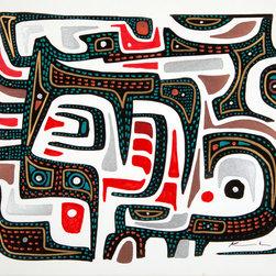 Kourosh Amini - Super Cool Borneo Wall Mural By Artist Kourosh Amini, 8'X9'10'', Quikstik Plus - Borneo