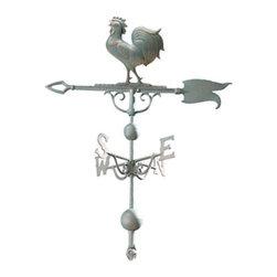 "Whitehall Products LLC - 46"" Rooster Weathervane Verdigris - Color: Verdigris"
