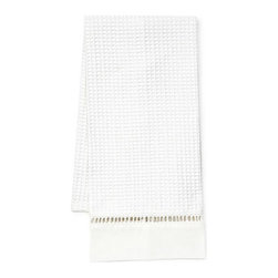Jacaranda Living - Waffle Weave Guest Towel without Embroidery - Continue the spa look in your bath with this waffle weave hand towel. Crisp, clean and without fuss this elegant towel absorbs water quickly and dries quickly. Can be monogrammed.