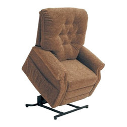 "Catnapper - Catnapper Patriot Power Lift Full Lay-Out Recliner Chair in Autumn - Catnapper - Recliners - 4824180036 - The Patriot ""Power Lift"" Full Lay-Out Recliner by Catnapper combines style, comfort and functionality. This traditionally styled recliner features elegant button tufted back, sturdy roll arm and very soft chenille fabric upholstery available in autumn, vino, celery, and slate. With its steal seat box it provides 350 Lb. weight capacity. This amazing chair that offers full layout comfort will be enjoyed for years to come!"