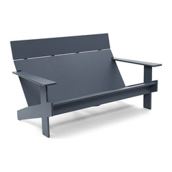 Loll Designs - Lollygagger Sofa, Charcoal Grey - The Lollygagger Sofa is the largest piece in our Lollygagger family. By unanimous conclusion, we took the Lollygagger Lounge and extended it to accommodate two people, and presto, it's a modern outdoor sofa. The seat and back angles work precisely together to create a synonymous symmetry of comfort for both loungers and an integrated bottle opener set beneath the right arm is there for your convenience. The Lollygagger Sofa likes to hang out with everyone in the Lollygagger family but sometimes likes to just be all alone too.