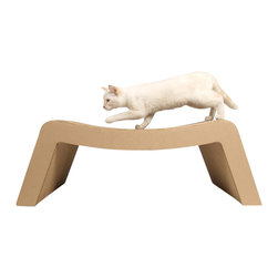 Elizabeth Paige Smith - Kittypod Prrrounge Chaise Lounge - Your kitty will be sitting pretty — not to mention napping, climbing, curling, pawing and purring — with this ecofriendly lounger. Strong corrugated cardboard is cut in shapes, then stacked together for extra texture and durability. What are you waiting for? Get one meow.