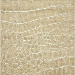 "Dynamic Rugs - Dynamic Rugs Mysterio 1218-101 (Ivory) 6'7"" x 9'6"" Rug - Colorations in this new collection features the interlacing of metallic tones, from pewter to lighter silver, and natural shades of browns, beiges and Ivory in transitional designs to complement today's modern, high fashion looks in home decoration. The rugs are power woven in Belgium with a dense heat set polypropylene pile. In the construction random double pointing density and drop stitch weaving techniques are used to create lovely textured finishes which are evident both visually and to the touch."