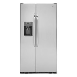 "GE - GSHS6HGDSS 36"" 25.9 cu. ft. Capacity Side-by-Side Refrigerator  External Ice/Wat - Your GE refrigerator is the largest and most visible appliance in your kitchen so it has to look great As trends in kitchen dcor change so must refrigerators Fortunately GE is a leader in refrigerator style and design And with GE you never sacrifice ..."