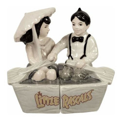 WL - 3.5 Inch Alfalfa and Darla Boat Little Rascals Salt and Pepper Shakers - This gorgeous 3.5 Inch Alfalfa and Darla Boat Little Rascals Salt and Pepper Shakers has the finest details and highest quality you will find anywhere! 3.5 Inch Alfalfa and Darla Boat Little Rascals Salt and Pepper Shakers is truly remarkable.