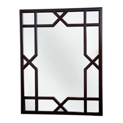 "Dorothy Draper Collection Trellis Mirror - This trellis mirror, inspired by America's most fabulous decorator, Dorothy Draper, is a great choice for Hollywood Regency or because of its classic ""X"", more traditional or modern designs."