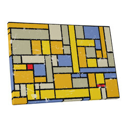 """PingoWorld - Abstract Colorful Squares II. Gallery Wrapped Canvas Print, 20""""x16""""x1.25"""" - Abstract Colorful Squares II. Gallery wrap on archival quality canvas using Epson Ultra-Chrome inks and pine wood frames."""