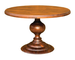 "Four Hands - Magnolia Round Dining Table, Dark Oak, 48"" - Dine in the round! Whitewashed mango wood and an impressive ball base pedestal give this round dining table a smart silhouette for your contemporary or traditional dining room."
