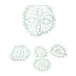 EuroLux Home - Consigned Vintage Belgian Set 5 Hand-Made Lace Doily - Product Details
