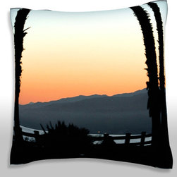 Custom Photo Factory - Beach, Santa Monica, Los Angeles, California,   Polyester Velour Throw Pillow - Panoramic view of a beach, Santa Monica, Los Angeles, California,  18 x 18 Inches  Made in Los Angeles, CA, Set includes: One (1) pillow. Pattern: Full color dye sublimation art print. Cover closure: Concealed zipper. Cover materials: 100-percent polyester velour. Fill materials: Non-allergenic 100-percent polyester. Pillow shape: Square. Dimensions: 18.45 inches wide x 18.45 inches long. Care instructions: Machine washable