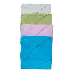 BambooBaby Hooded Towel - Keep little ones dry and warm with this soft and absorbent terrycloth baby towel. I'm glad it comes hooded to keep baby's head warm. It's made of 80 percent viscose from organic bamboo and 20 percent recycled polyester.
