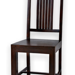 Solid Rosewood Dining Chair, Set of 4 - Handcrafted rosewood chair. Can be sold in sets of 2, 4, 6 OR 8 to match SXFE's 6 or 8 person dining tables. Imported from India.