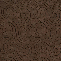 Brown Abstract Swirl Microfiber Upholstery Fabric By The Yard - P0523 is great for all indoor upholstery applications including: automotive, residential, commercial and hospitality. Microfiber fabrics are inherently stain resistant, durable and machine washable. In addition, all of our microfiber fabrics are made in America.