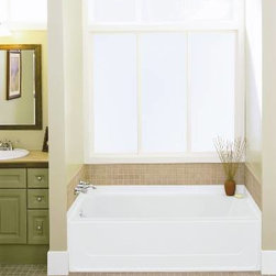 """STERLING PLUMBING - Sterling Bath Tub Vikrell Left Hand Outlet 60"""" White - Features:"""