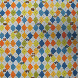 "SheetWorld - SheetWorld Fitted Pack N Play (Graco) Sheet - Argyle Transport Blue - This 100% cotton ""flannel"" pack n play (graco) sheet is made of the highest quality fabric that's double napped. That means these sheets are the softest and most durable. Sheets are made with deep pockets and are elasticized around the entire edge which prevents it from slipping off the mattress, thereby keeping your baby safe. These sheets are so durable that they will last all through your baby's growing years. We're called sheetworld because we produce the highest grade sheets on the market today. Features the cutest argyle and baby transport print on a blue background. Size: 27 x 39. Not a Graco product. Sheet is sized to fit the Graco playard. Graco is a registered trademark of Graco."