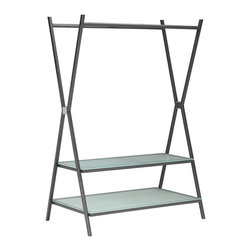 Zuo Modern - Zuo Xert Coat Shelf in Gray - Coat Shelf in Gray belongs to Xert Collection by Zuo Modern Organize the modern way with the Xert coat shelf. The sturdy metal frame with tempered glass shelving helps organize tastefully in any room. Coat Shelf (1)