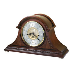 Howard Miller - Howard Miller Unique Arched Glass Top Key Wound Chiming Mantel Clock | BARRETT - 630200 BARRETT