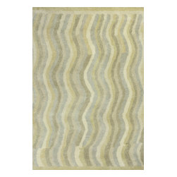 KAS - Kas Amore 2707 Slate Waves Rug, 5 Ft X 7 Ft 6 in - Kas Amore 2707 Slate Waves Area Rug. Kas Amore 2707 Slate Waves Area Rug. Enjoy the comforting colors and relaxing patterns of the Amore rug, handmade from fine Italian wool using traditional methods. These rugs feature fun geometric patterns with a human touch of variation for visual structure but with an easygoing atmosphere. Cool, natural tones lay an inviting backdrop for cheery accent colors, while the patterns burst with personality. Available in shapes and sizes for any room, KAS Amore area rugs give your home an air of thoughtful serenity.