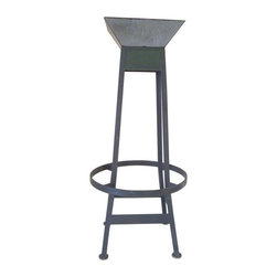 Pre-owned Eiffel Steel Bar Stool - This stool is based on the iconic shape of the famous Parisian monument. Unlike its French big sister, this tower was never repainted and carries the marks of time and the elements. Using the strength and flexibility steel, this pieces mixes comfort and nostalgia for a unique seating experience.