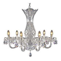 Waterford - Waterford Blue Bell 6-Arm Chandelier - Waterford Blue Bell 6-Arm Chandelier