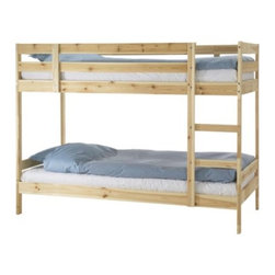 IKEA of Sweden - Mydal Bunk Bed Frame - Convert this into a loft bed by leaving out the bottom bed and extending the ladder. I'm painting the one in my kids' room pink and blue and making a playhouse underneath.