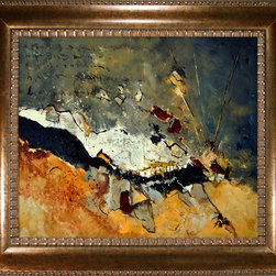 overstockArt.com - Ledent - Abstract 1811014 Oil Painting - Canvas print of a colorful abstract painting that is originally oil on canvas stretched on a wooden frame 39.4 x 31.5 inches. Pol Ledent was born in 1952 in Belgium. He came to painting in 1989. He started with watercolor but felt rapidly that oil painting would match his way of being. He is a self-taught painter. Nevertheless he took some drawing lessons in a Belgian academy. After taking part into numerous group exhibitions, some galleries in Belgium proposed to him to exhibit his works. Dinant, Bouillon, Brussels , Paris and Moscow in October 2006.