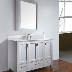"48"" Toscana Single Bath Vanity - White -"