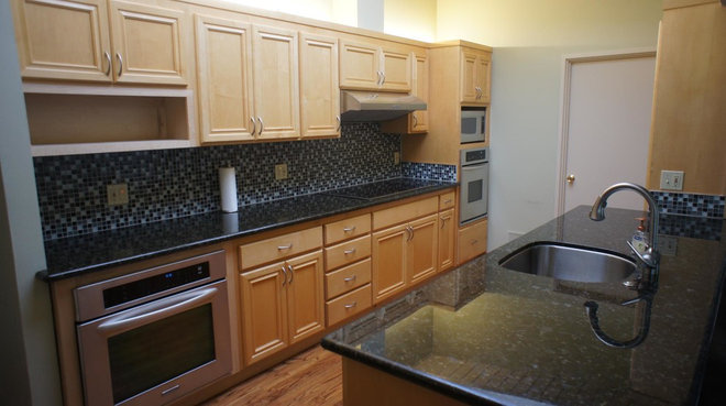 Modern by pride joy home improvements for Refacing old kitchen cabinets
