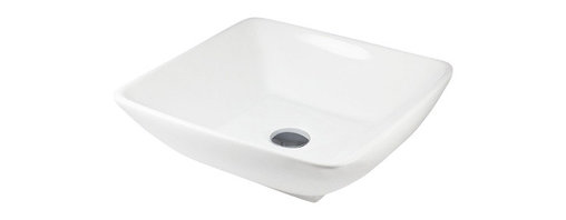 TCS Home Supplies - Porcelain Ceramic Countertop Bathroom Vessel Sink - 17-1/2 x 17-1/2 x 5-1/4 Inch - Product Features: