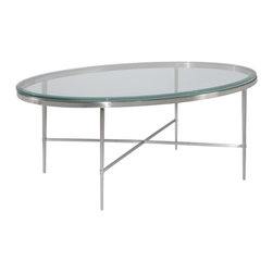 EuroLux Home - New Oval Coffee Cocktail Table Polished - Product Details