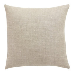 Barn & Willow - Belgian Linen Pillow Cover - Oatmeal, 18 X 18 - Our Belgian linen pillow is made from flax grown and woven into linen in the finest mills of Belgium. It is known for its quality, impeccable weave and finish. Crafted in pure Belgian linen looms and woven in a specific pattern, this pillow cover have an oatmeal texture to it which makes it classic yet contemporary and design forward.